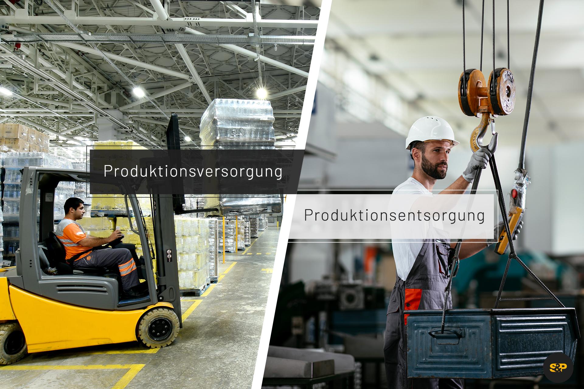 Mit einer zuverlässigen Produktionsversorgung und -Entsorgung den Materialfluss im Lager am Laufen halten!