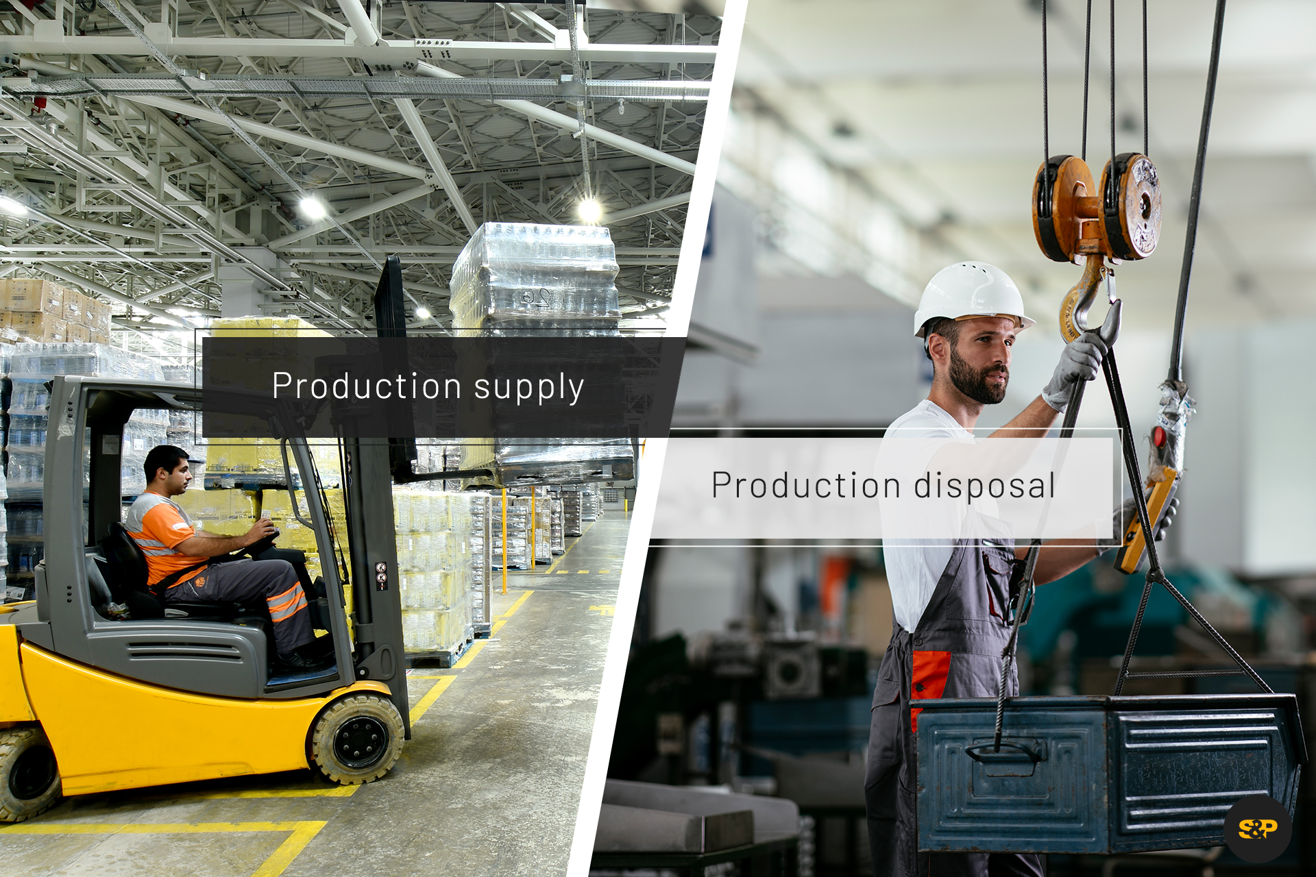 With a reliable production supply and disposal system, you can keep the material flow in the warehouse constantly running!